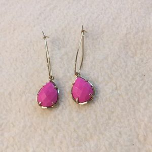 Kendra Scott neon pink teardrop earrings